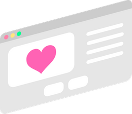 Floating website with a heart