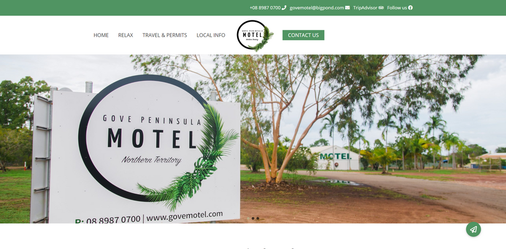 image of Gove Motel Website